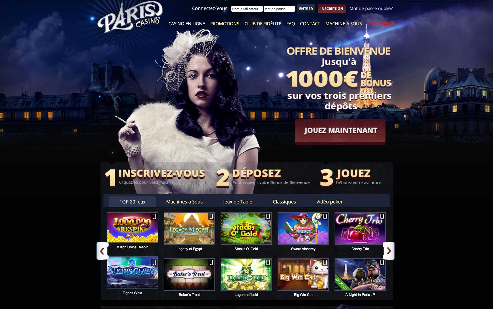 casino paris machine sous