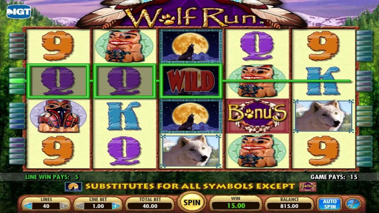 jeux machine sous wolf run gratuit
